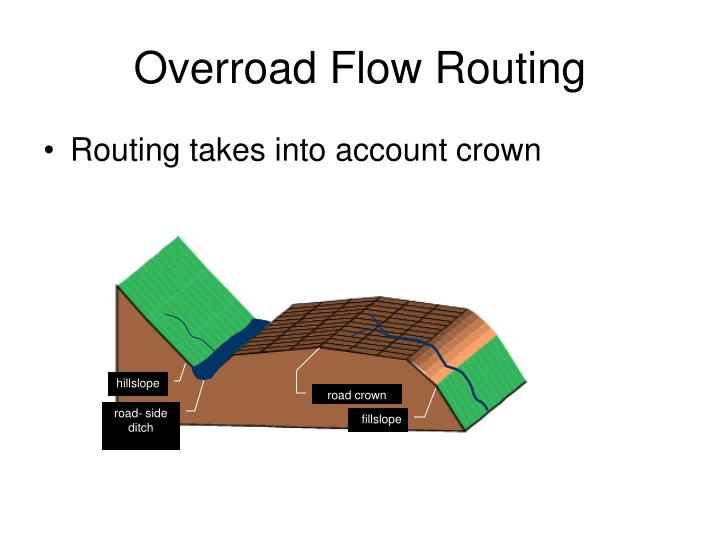 Overroad Flow Routing