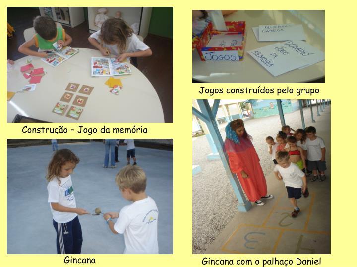 Jogos construídos pelo grupo