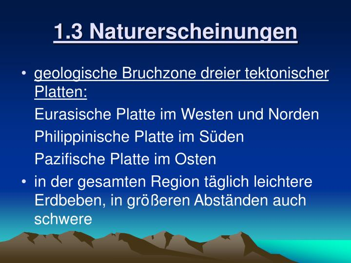 1.3 Naturerscheinungen