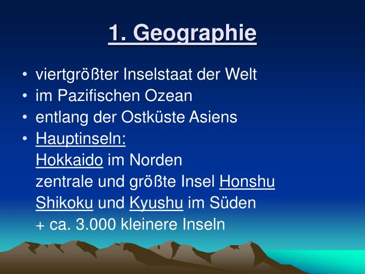 1. Geographie