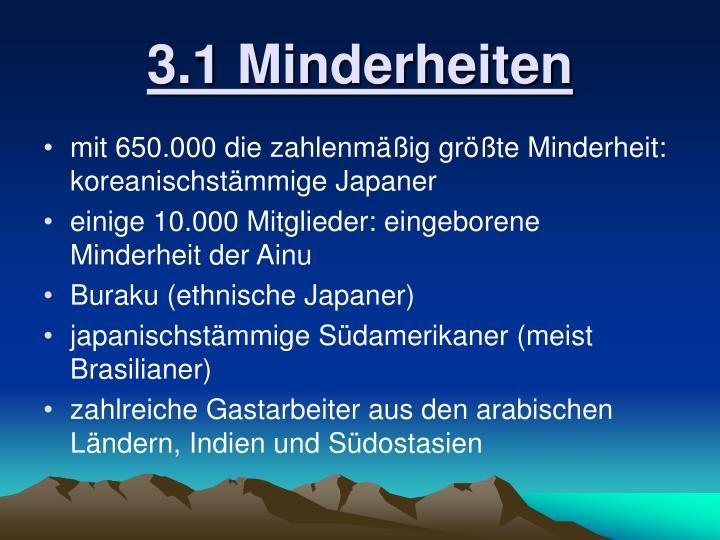 3.1 Minderheiten