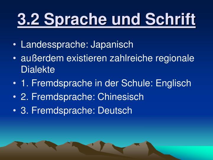 3.2 Sprache und Schrift