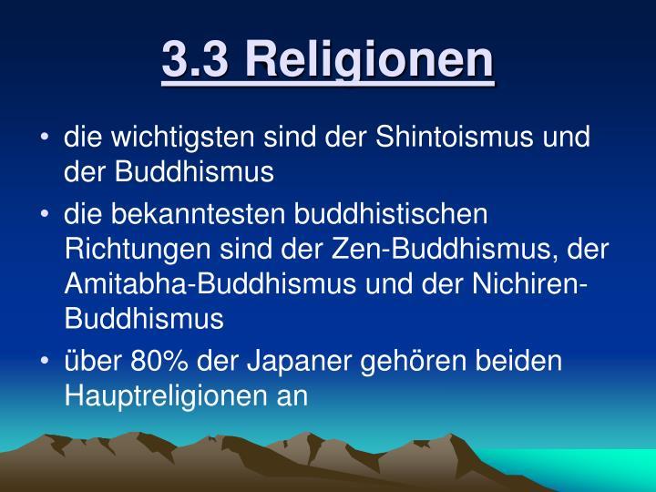 3.3 Religionen