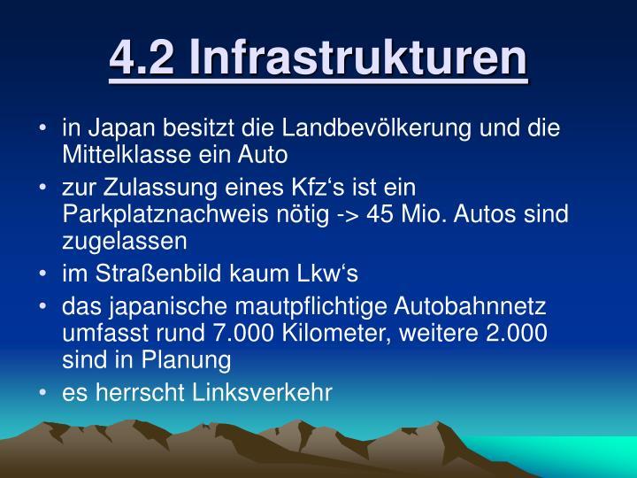 4.2 Infrastrukturen
