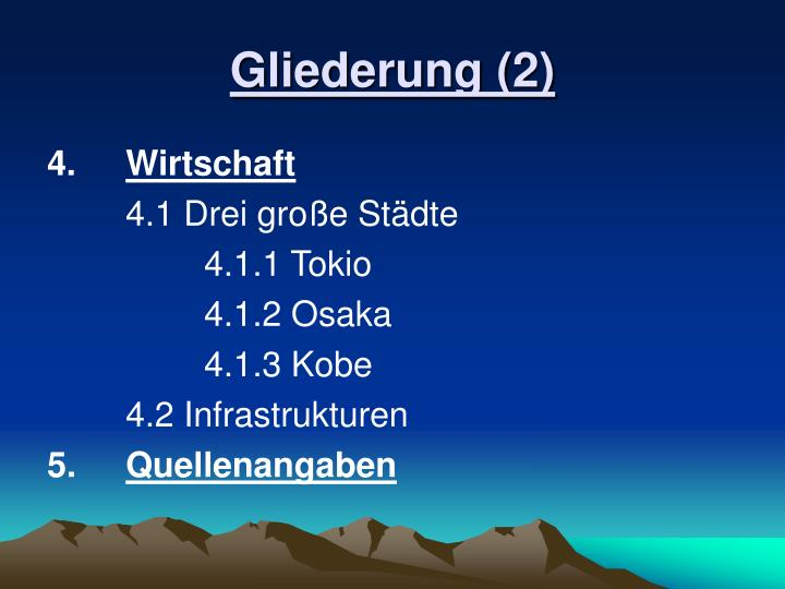 Gliederung (2)