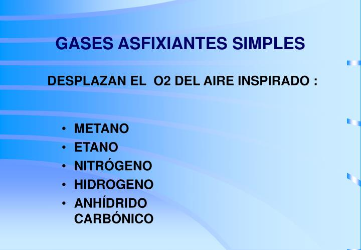 GASES ASFIXIANTES SIMPLES