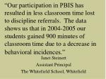 janet steinert assistant principal the whitefield school whitefield