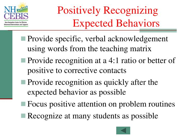 Positively Recognizing