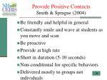 provide positive contacts smith sprague 2004