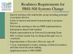 readiness requirements for pbis nh systems change