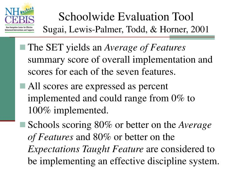 Schoolwide Evaluation Tool