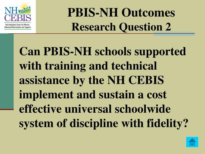 PBIS-NH Outcomes