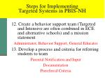 steps for implementing targeted systems in pbis nh