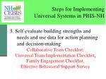 steps for implementing universal systems in pbis nh1