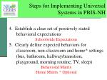 steps for implementing universal systems in pbis nh2