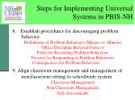 steps for implementing universal systems in pbis nh5