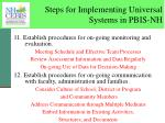 steps for implementing universal systems in pbis nh7