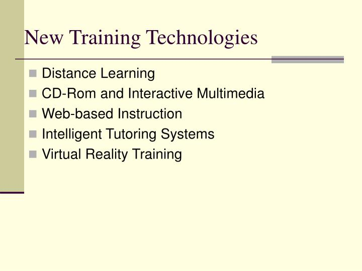 New Training Technologies