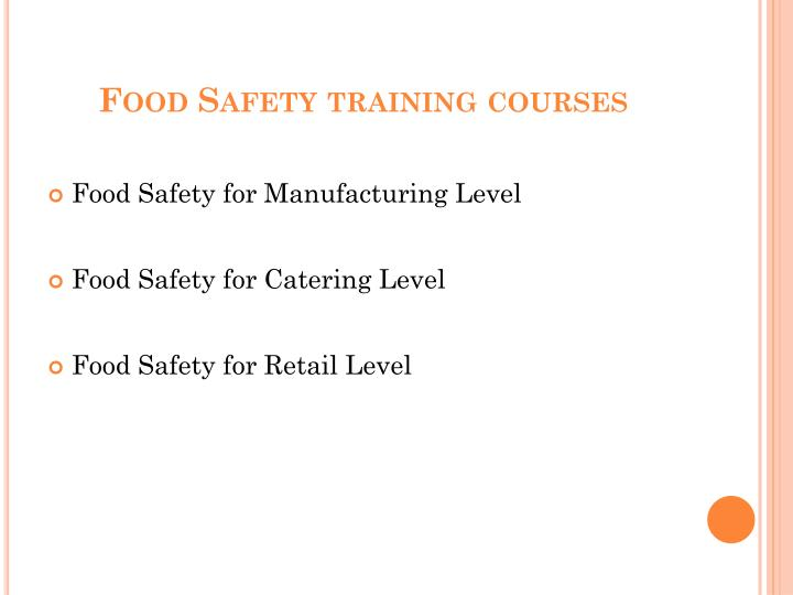 Food safety training courses2