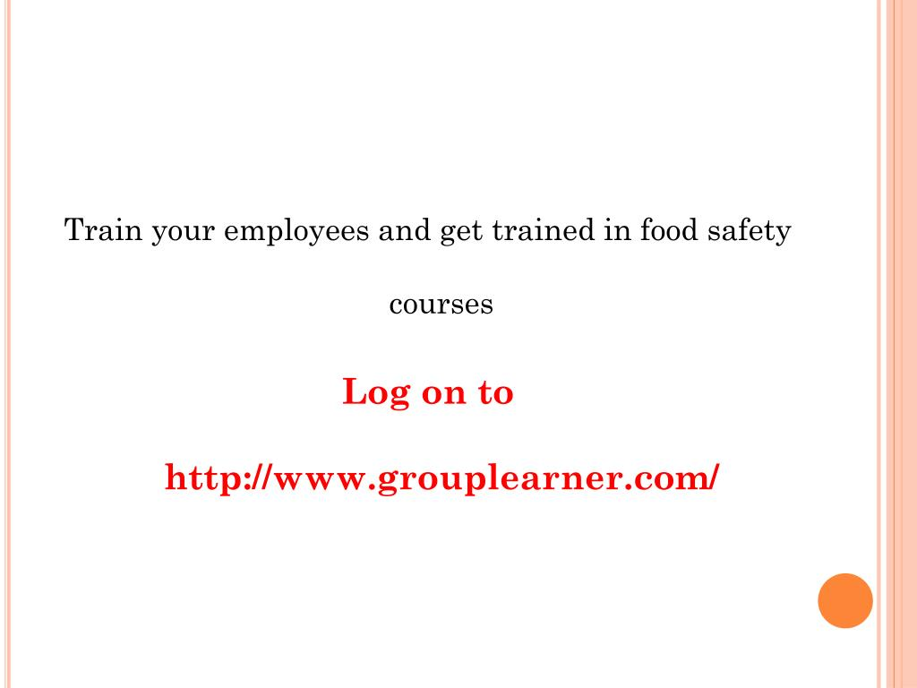 Train your employees and get trained in food safety courses