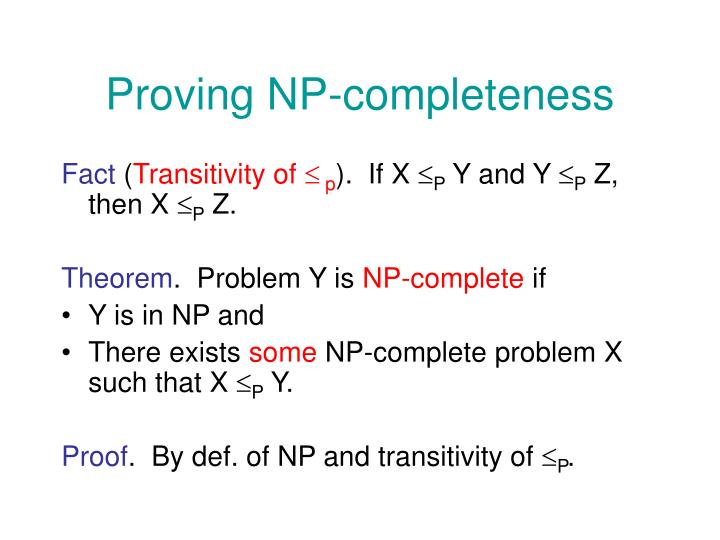 Proving NP-completeness