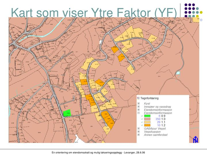Kart som viser Ytre Faktor (YF)