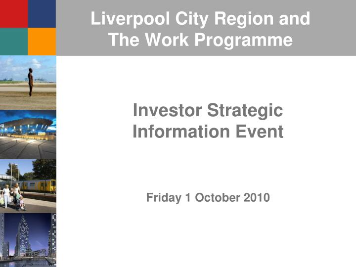 Liverpool city region and the work programme