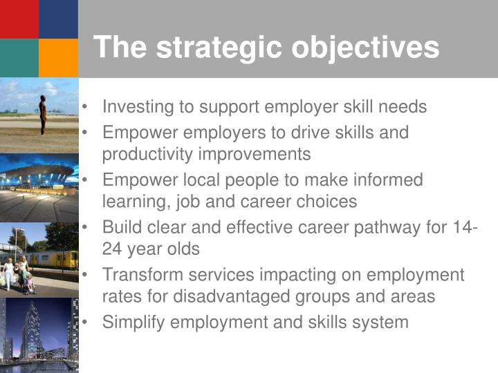 The strategic objectives