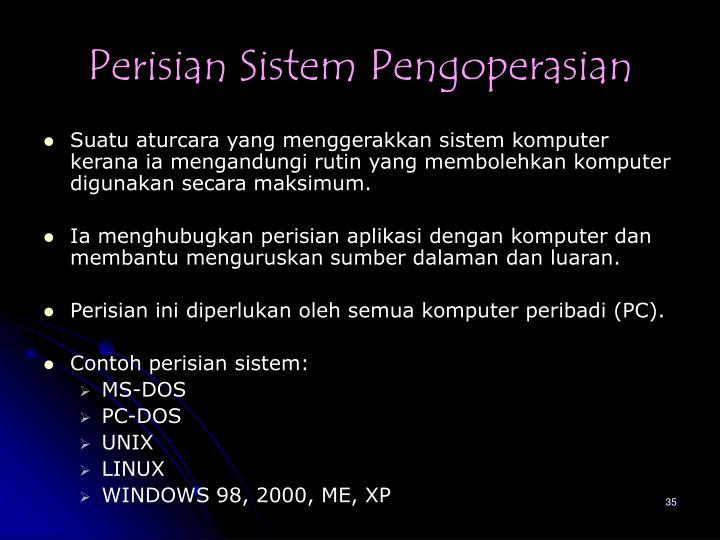 Perisian Sistem Pengoperasian
