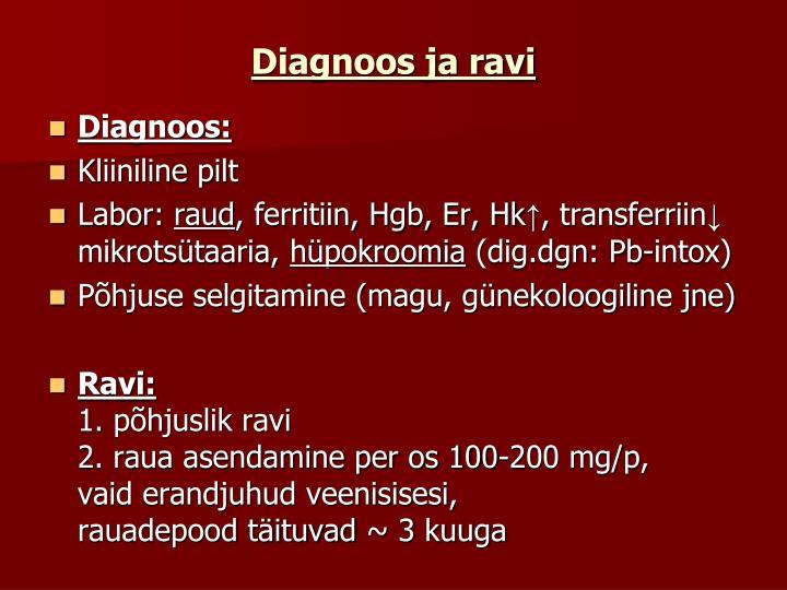 Diagnoos ja ravi