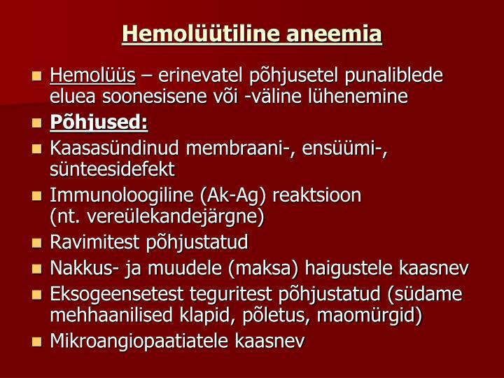 Hemolüütiline aneemia