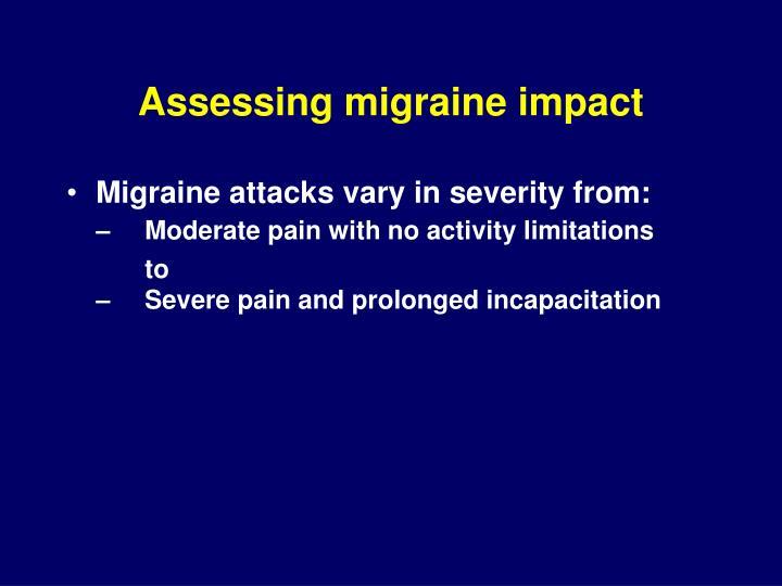 Assessing migraine impact
