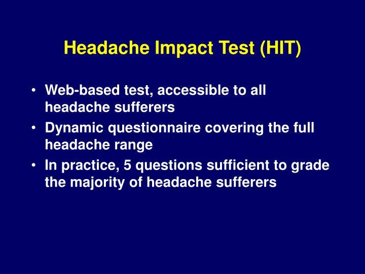 Headache Impact Test (HIT)