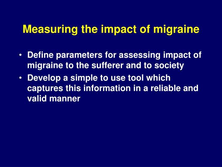 Measuring the impact of migraine