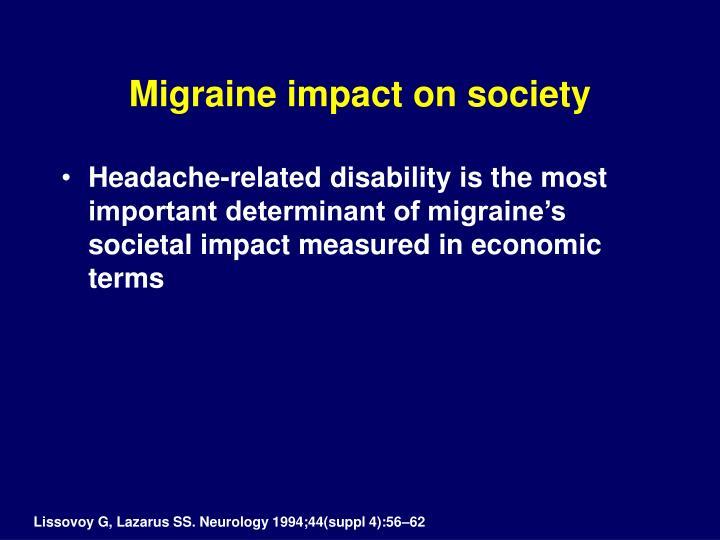 Migraine impact on society