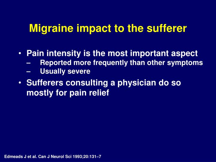 Migraine impact to the sufferer