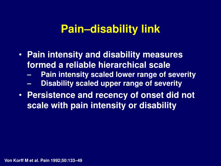 Pain–disability link