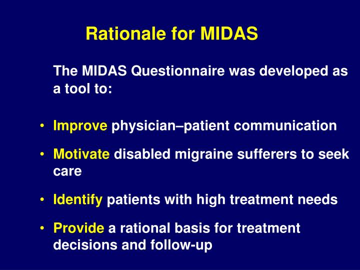 Rationale for MIDAS
