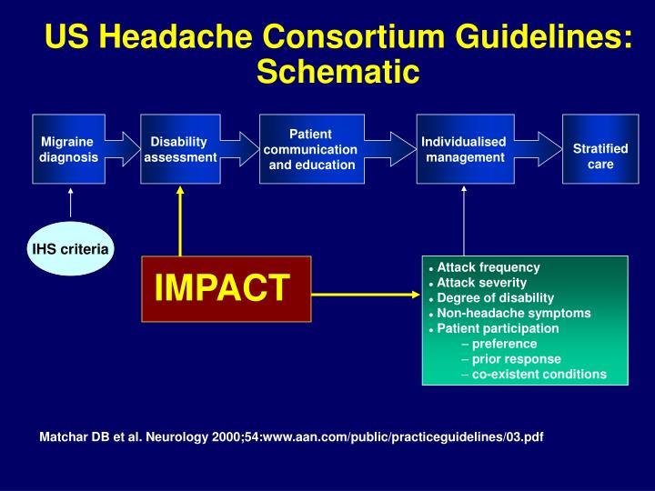 US Headache Consortium Guidelines: Schematic