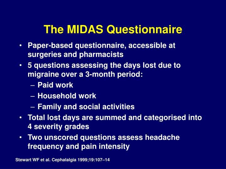 The MIDAS Questionnaire