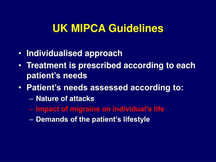 UK MIPCA Guidelines