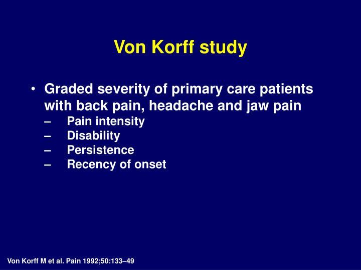 Von Korff study