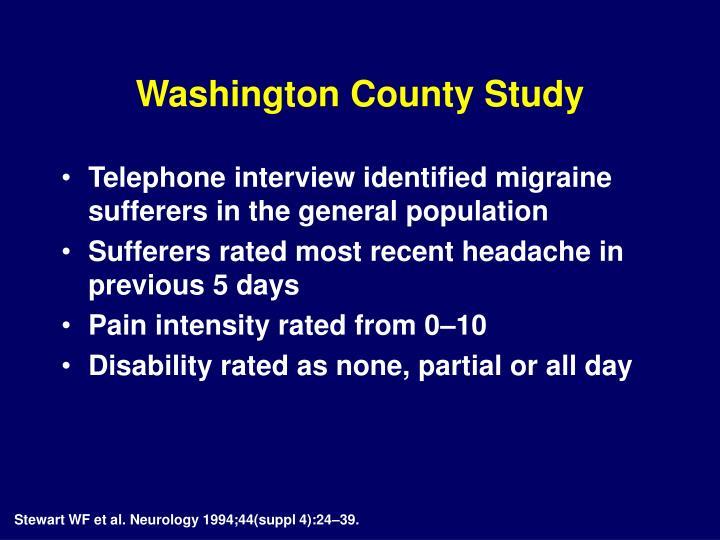 Washington County Study