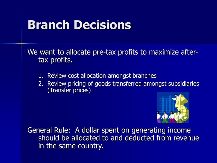 Branch Decisions