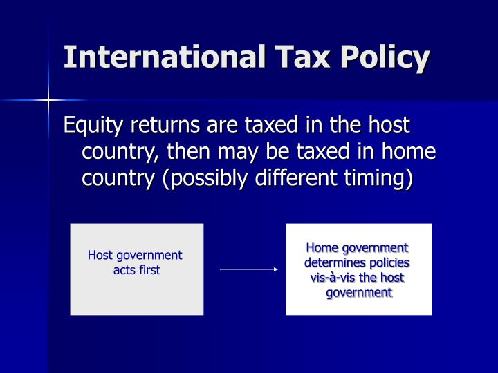 International Tax Policy