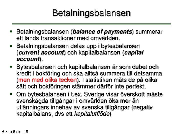 Betalningsbalansen