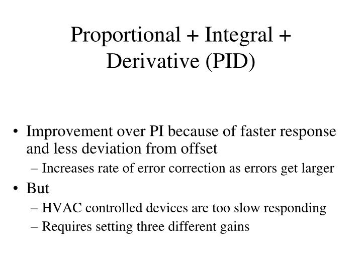 Proportional + Integral + Derivative (PID)