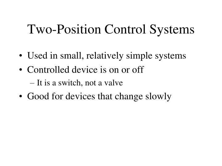 Two-Position Control Systems