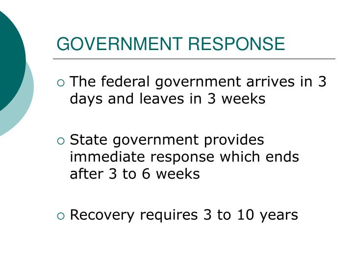 GOVERNMENT RESPONSE