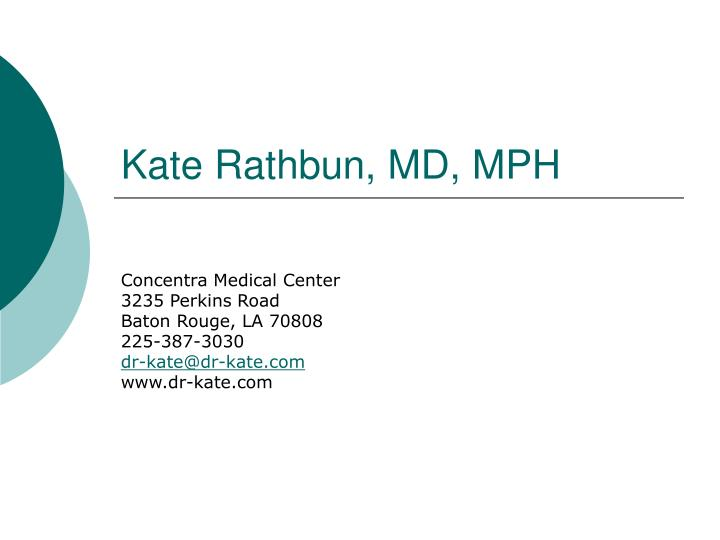 Kate rathbun md mph